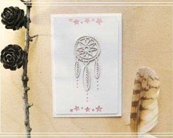 "Card ""Dreamcatcher"" 4/Handmade card/Scrapbooking card/Greeting card/Card for any occasion"
