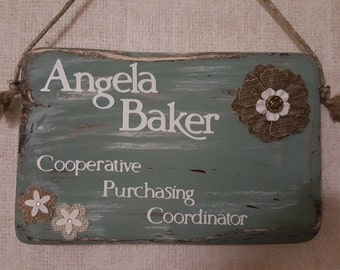 Customizable Handcrafted Rustic Sign