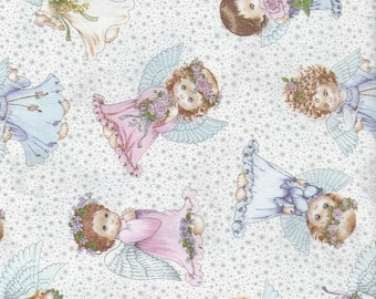 ANGELS AND FAIRIES fabric ..4118 White...elizabeth studio