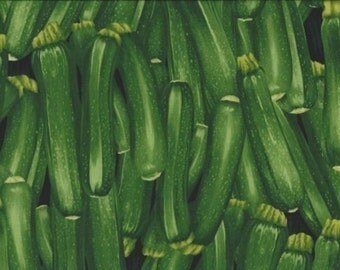 Vegetable.Zucchini Packed Cotton Quilt Fabric Timeless Treasures 9723.