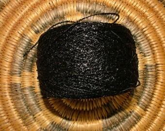 Erdal Glowette Rayon Lurex Yarn, 50g Ball, 284 Yards, Black, Crochet Knit