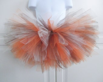 Brown, Orange and White Tutu/Fall/Thanksgiving Tutu - Other Colors Available