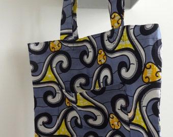 Holland wax shopping bag , tote bag,book bag, grocery bag, market bag