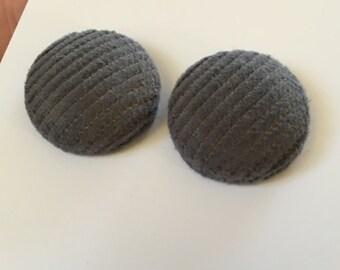 20mm Grey Corduroy Fabric Studs