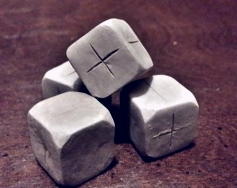 Grey clay Dice