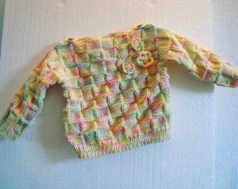 Sweater Rainbow Girl flower toddler
