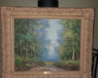 E. Vieri Original Acrylic Painting Summer Scene