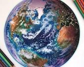 Mixed Media Earth Drawing...