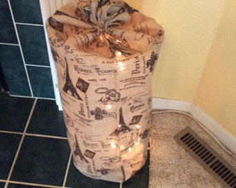 Burlap bag, lighted
