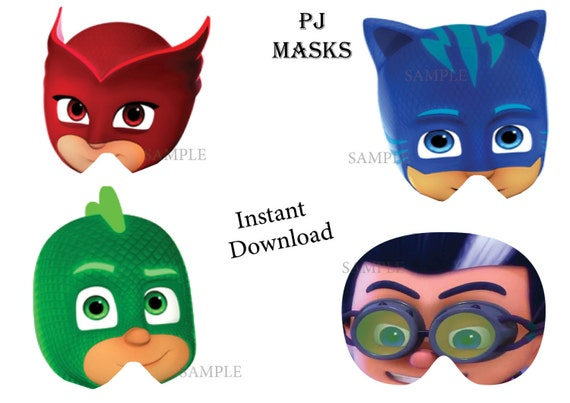 It is an image of Lively Pj Mask Template
