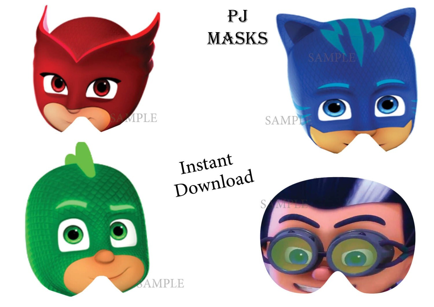 It is a picture of Insane Pj Masks Mask Printable