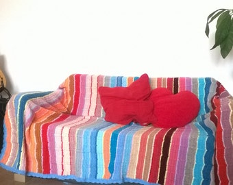 cOOl coLORfuLL KniTTed ThROW