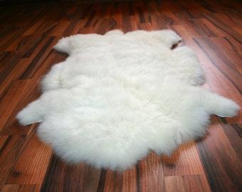 New Luxurious Organic Sheepskin Rug White L/XL