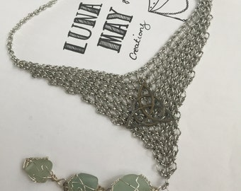 Lady Of The Lake Morgan Le Fay Chain Mail necklace