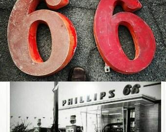 Phillips 66 gas memorabilia. Service station art. Vintage