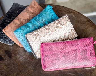 Snake skin leather purse