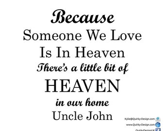 because someone we love is in heaven frame vinyl decal sticker box frame ikea ribba