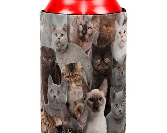 Crazy Cat Lady All Over Can Cooler