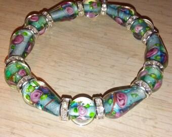 Girls Glass Bead Bracelet.