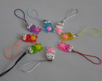 Resin Glitter Frog Charms fpr planners, journals, cell phones ect.