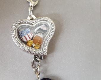 Heart memory charm locket