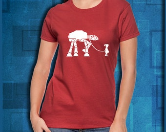 Star Wars Little Girl Walking AT-AT T-Shirt // Star Wars Top // Star Wars Shirts