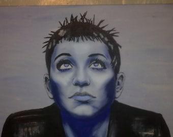 Brian Molko PLACEBO painting