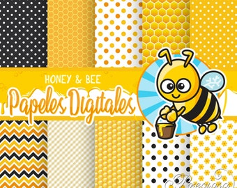 "Papers digital Honey & Bee 12 ""x 12"""