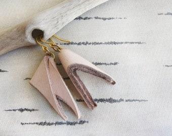 SWALLOW  Leather Earrings, Leather Jewellery