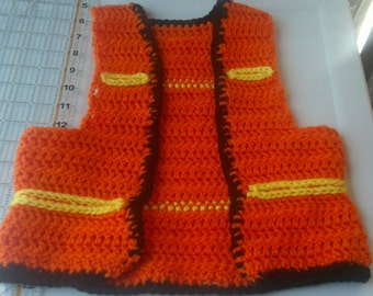Construction worker play vest
