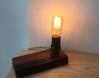 Live edge, Walnut lamp