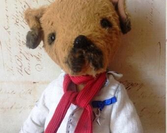 Teddy dog Stuffed animals Teddy bear Dog  Vintage toy Handmade dog Teddy