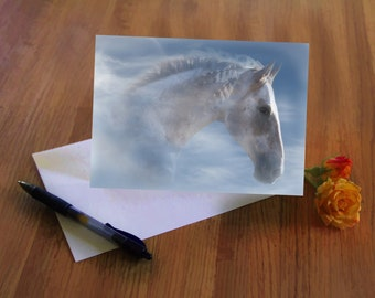 Indian Pony, Happy Birthday Card, Native American Birthday Card, Pretty Horse Bday Card, Happy Birthday card with Horses, Horse Lover Bday