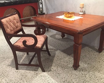 Antique Queensland Maple Table Or Desk