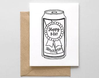 Hoppy Birthday Letterpress Greeting Card