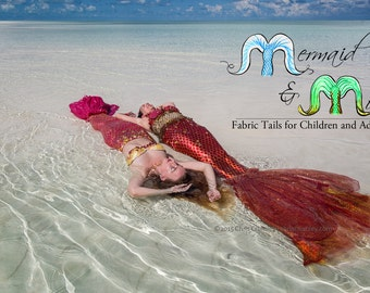 Adult or Child's Swimming Mermaid Tail
