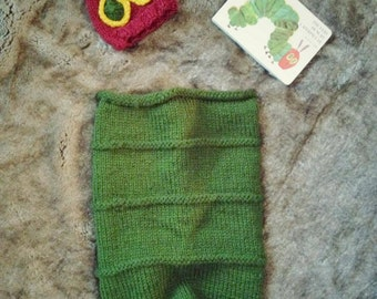 Very Hungry Caterpillar Newborn Hand Knit Cocoon
