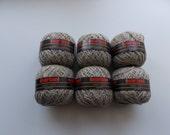 Beige yarn, linen yarn, cotton yarn, vegan yarn, natural yarn, yarn lot, tweed yarn, cheap yarn, light yarn, DK yarn, light worsted yarn