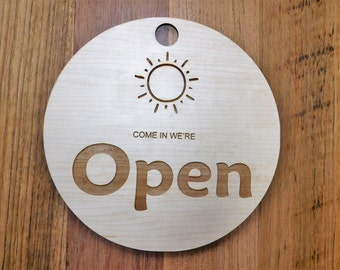 OPEN CLOSED sign, open sign for shop, open and closed sign, custom wood sign