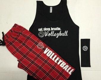 Eat. Sleep. Breathe Volleyball Pajama Set