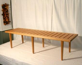 Wegner Style Slat Bench in Cherry