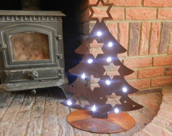 Rustic Metal Christmas Tree / Rusty Metal Christmas Tree / Christmas Decoration / Rustic Christmas / Rusty Metal / Garden Decor