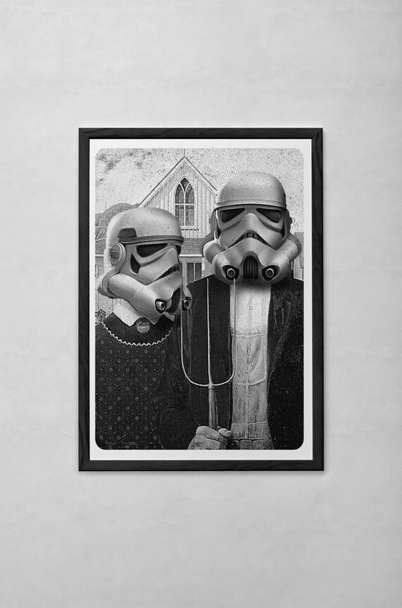 American gothic Stormtrooper Art Print by instacool on Etsy
