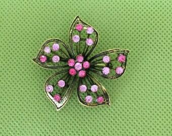 Pink Vintage Brooch