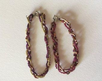 Purple Beaded Bracelets