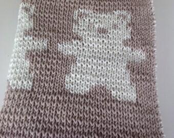 100%Anniek lovely baby blanket with bear