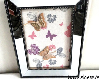 Butterfly Picture 3d Wall Hanging Mirror frame Shabby Chic