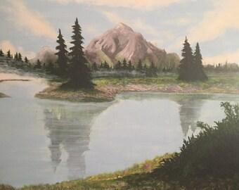 Acrylic Painting Print: Mickey Mouse Lake