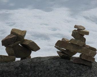 Inuksuk - Alaska - Nature photography - rocks - Canada - Travel photography - stone landmark