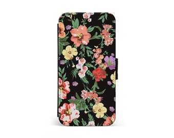 Tropical Flowers Wallet Flip Case, Girly Floral, Floral Print, Hawaiian, iPhone Case, Samsung Case, iPhone Cover, iPhone Wallet \ lf-pp088